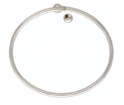 925 Sterling Flex Bangle - Large Size 6mm Threaded Ball