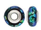 925 Designer Dichroic Beads- Green/Blue