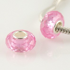 925 Zircon Beads - Light Rose
