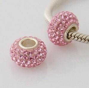 Charm 925 - 5 Row Crystals - Light Pink