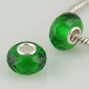 925 Crystal Beads - Emerald Green
