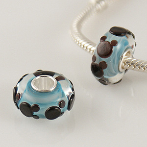 925 Glass Beads Mouse in Blue