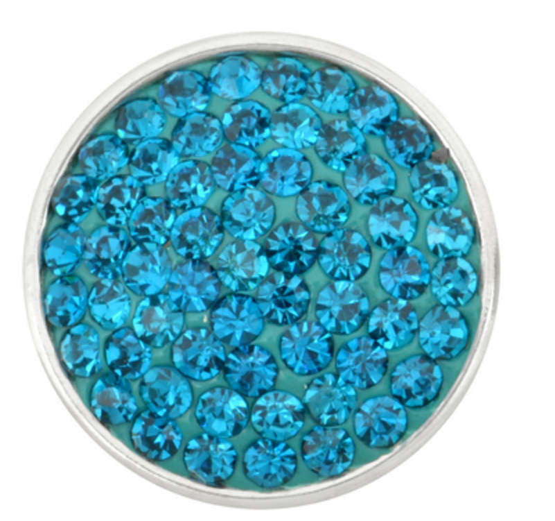 Snap Jewelry Crystal - Solid Teal