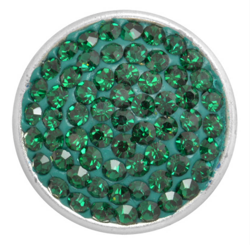 Snap Jewelry Crystal - Solid Green