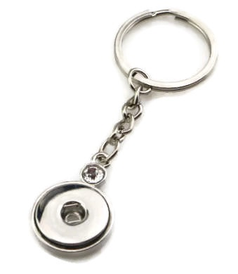 Snap Jewelry Key Chain - Silver CZ Link Chain