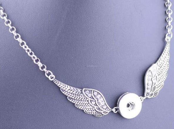 Snap Jewelry Necklace - Double Wing Link 20""