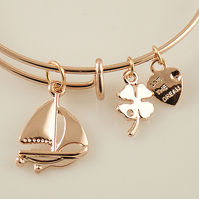 A&A Bracelet - Sail Boat Rose Gold Plated