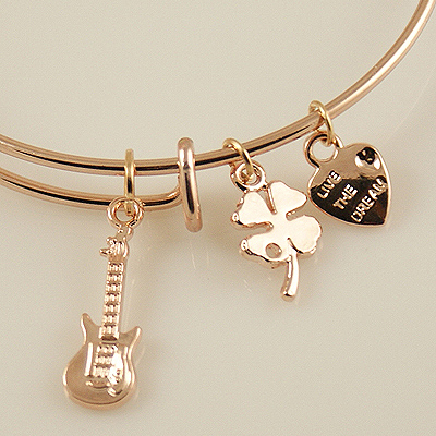 A&A Bracelet - Guitar Rose Gold Plated