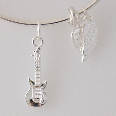 A&A Bracelet - Guitar Silver Plated