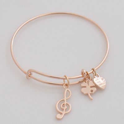 A&A Bracelet - Music Note Rose Gold Plated