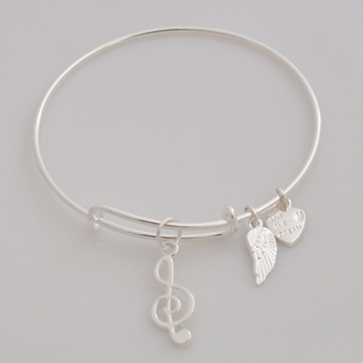 A&A Bracelet - Music Note Silver Plated