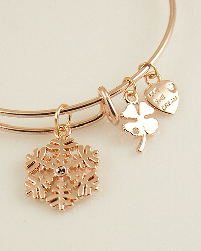 A&A Bracelet - Snowflake Rose Gold Plated