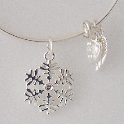 A&A Bracelet - Snowflake Silver Plated