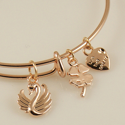 A&A Bracelet - Swan Rose Gold Plated
