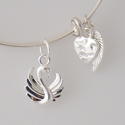 A&A Bracelet - Swan Silver Plated