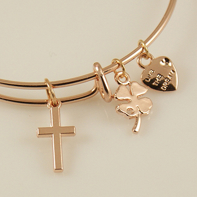 A&A Bracelet - Cross Rose Gold Plated
