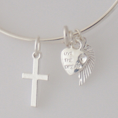 A&A Bracelet - Cross Silver Plated