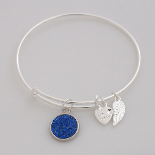 A&A Crystal Bracelet - Primary Blue Silver Plated