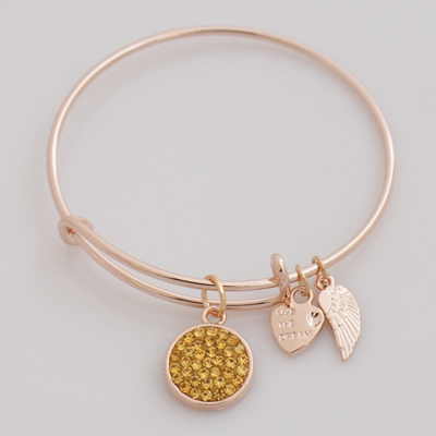 A&A Crystal Bracelet - Gold Silver Plated