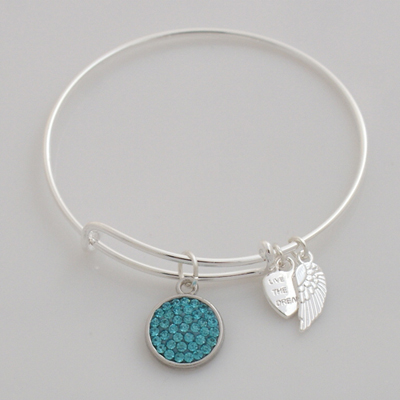 A&A Inspired Crystal Bracelet - Light Blue