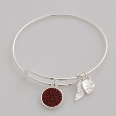 A&A Inspired Crystal Bracelet - Burgundy Red