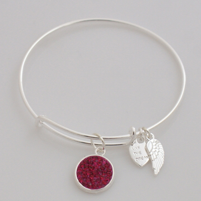 A&A Inspired Crystal Bracelet - Fuscia