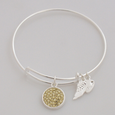 A&A Inspired Crystal Bracelet - Light Yellow