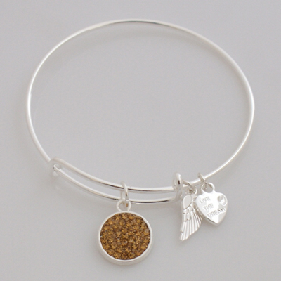 A&A Inspired Crystal Bracelet - Light Beige