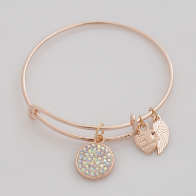 A&A Inspired Crystal Bracelet - AB Clear Rose Gold