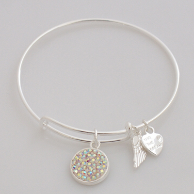 A&A Inspired Crystal Bracelet - AB Clear