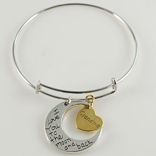 A&A Bracelet - I Love You To the Moon and Back - Grandma