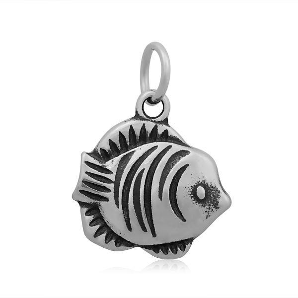 17*23mm Small Stainless Steel Charm - Fish