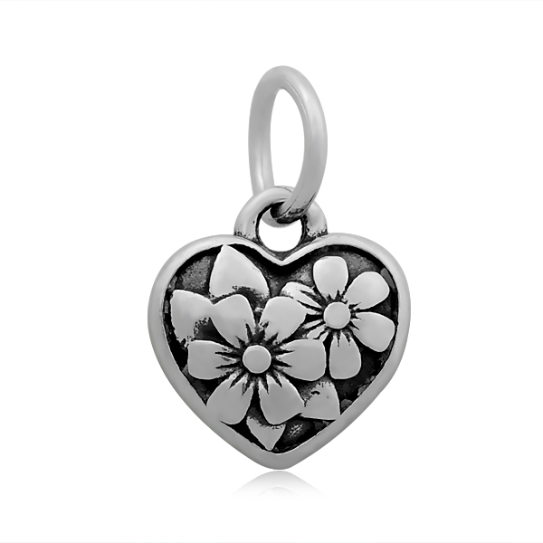 11*17mm Small Stainless Steel Charm - HEART