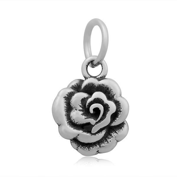 12*20mm Small Stainless Steel Charm - ROSE