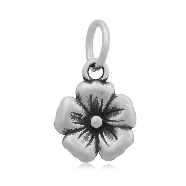 11*20mm Small Stainless Steel Charm - BLOSSOM