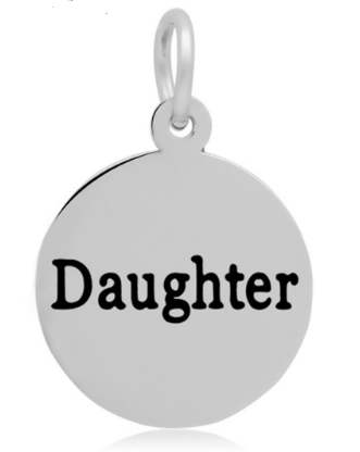 16*24mm Small Stainless Steel Charm - Round Daughter
