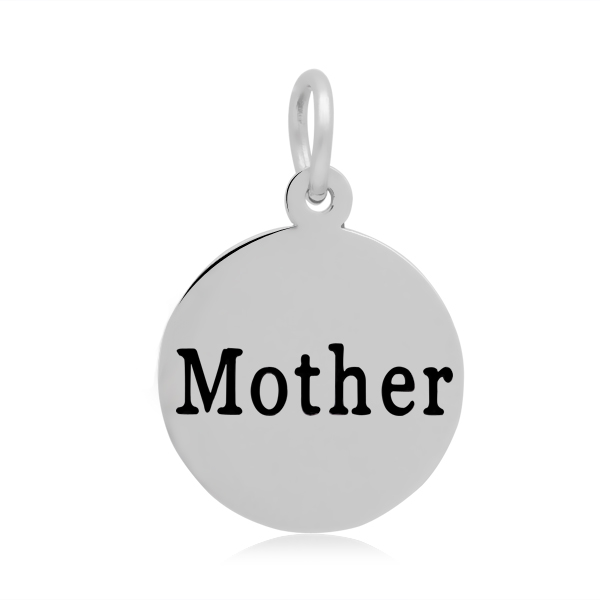 16*23mm Small Stainless Steel Charm - Mother Round