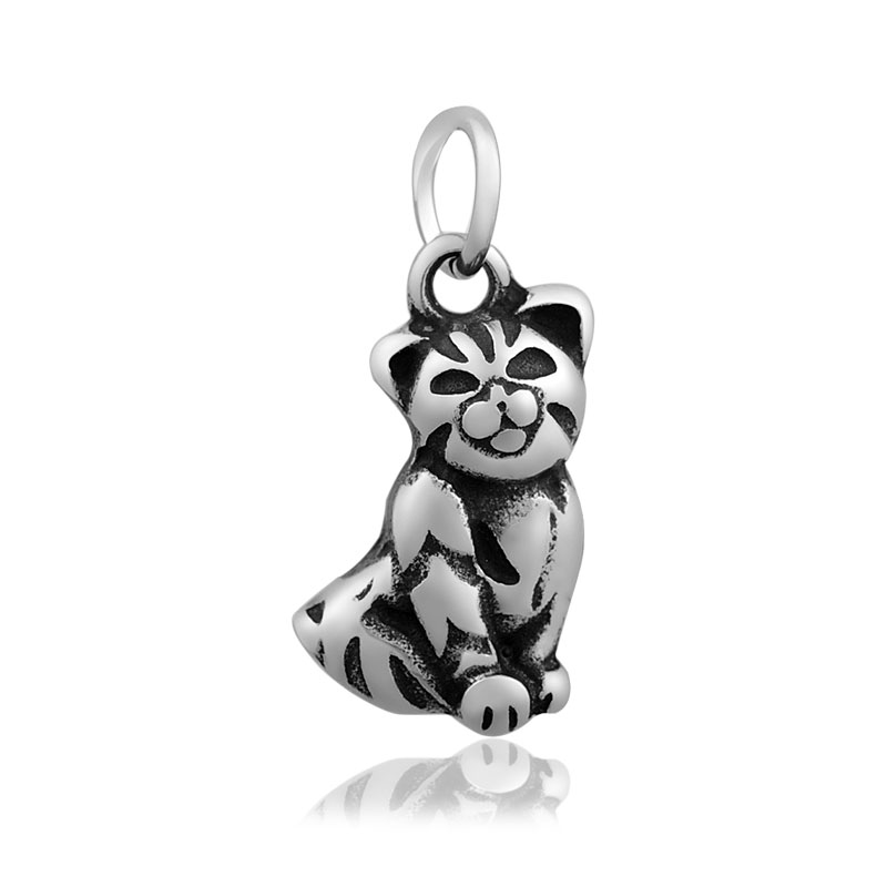 11*25mm Small Stainless Steel Charm - Cat