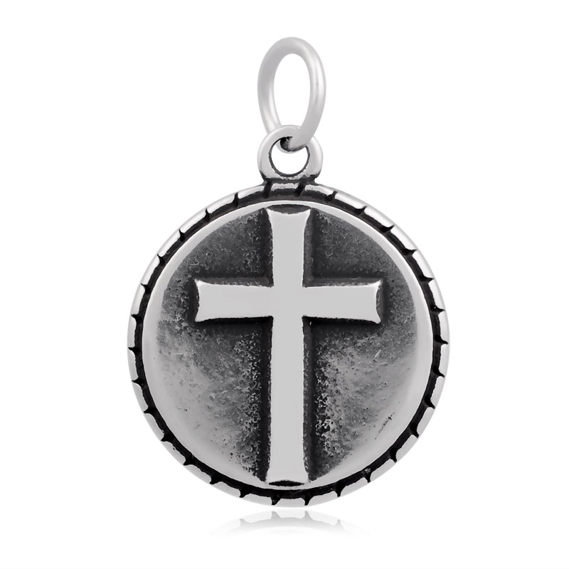 19*29mm Medium Stainless Steel Charm - Cross