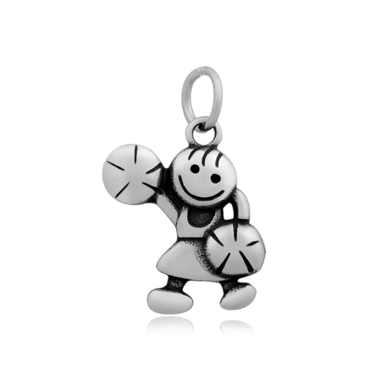 14*26mm Medium Stainless Steel Charm - Cheerleading