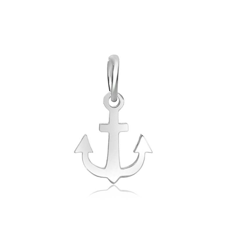 12*19mm Small Stainless Steel Charm - Anchor