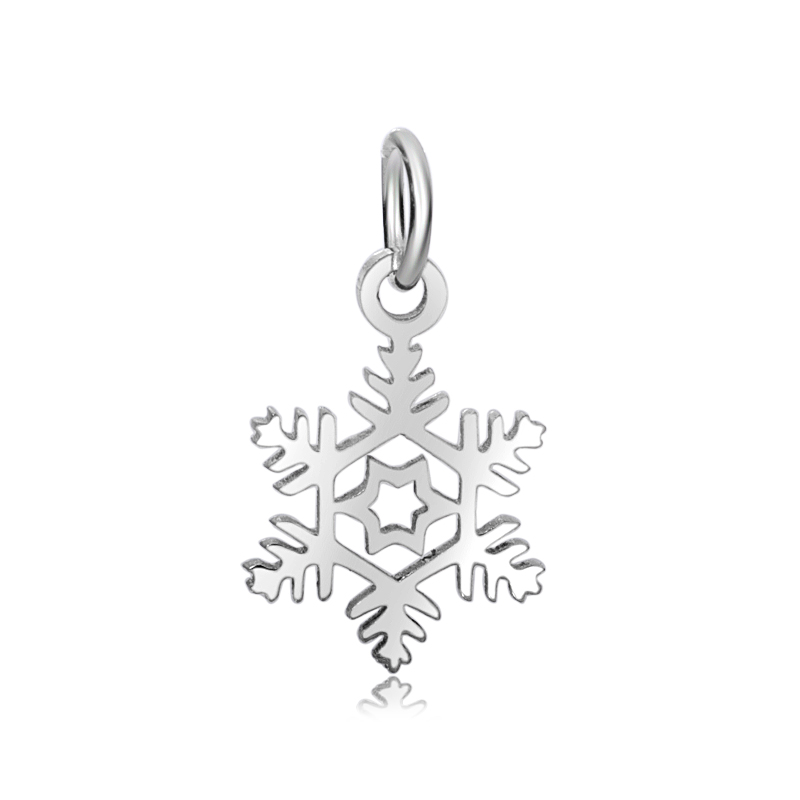 13*24mm Small Stainless Steel Charm - Snowflake