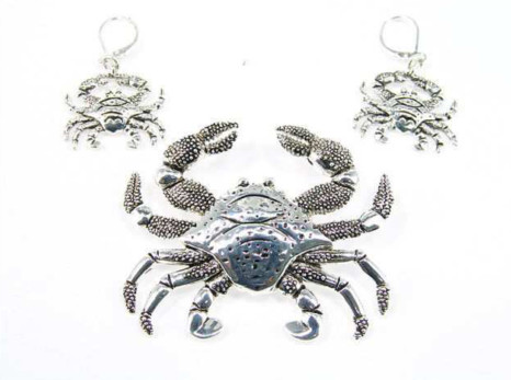 Crab Magnetic Veil Pendant - Silver