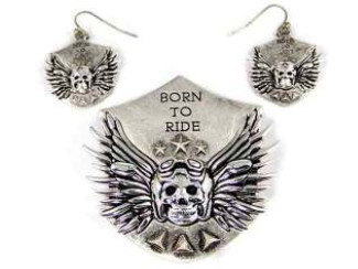 Biker - Born To Ride Magnetic Veil Pendant