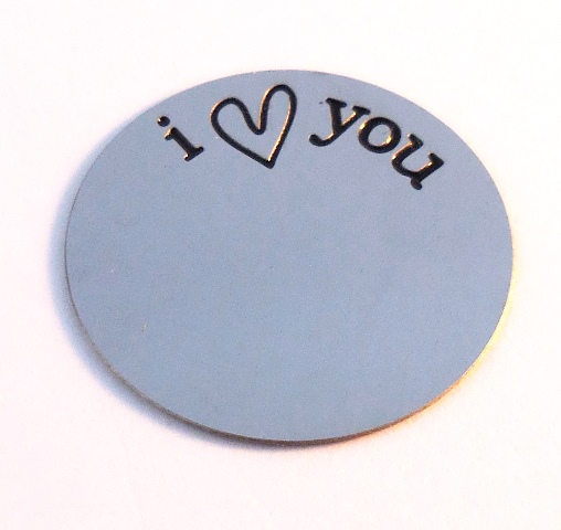 Memory Locket Plates I Love you