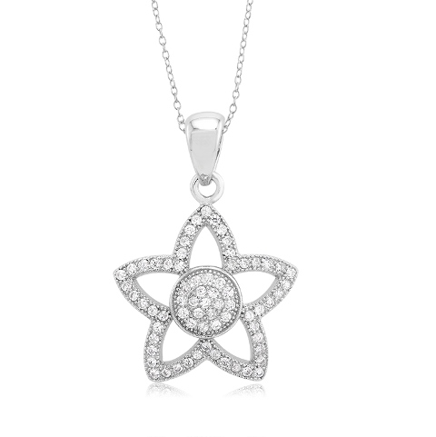925 - Sterling - Disc in Star Pendent
