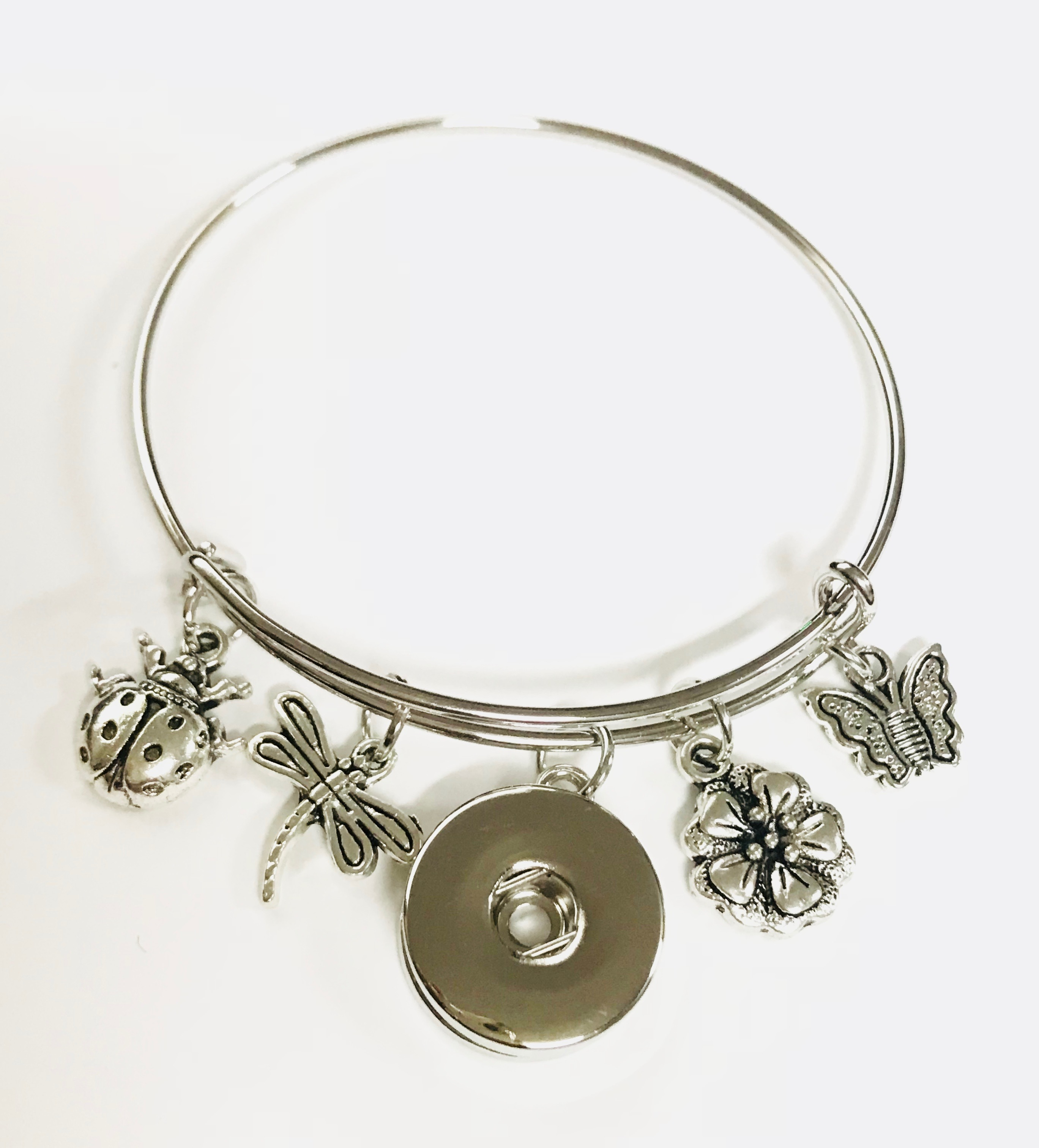 Snap Jewelry Wire Expandable Bangle - Dragonfly, Ladybug, & more