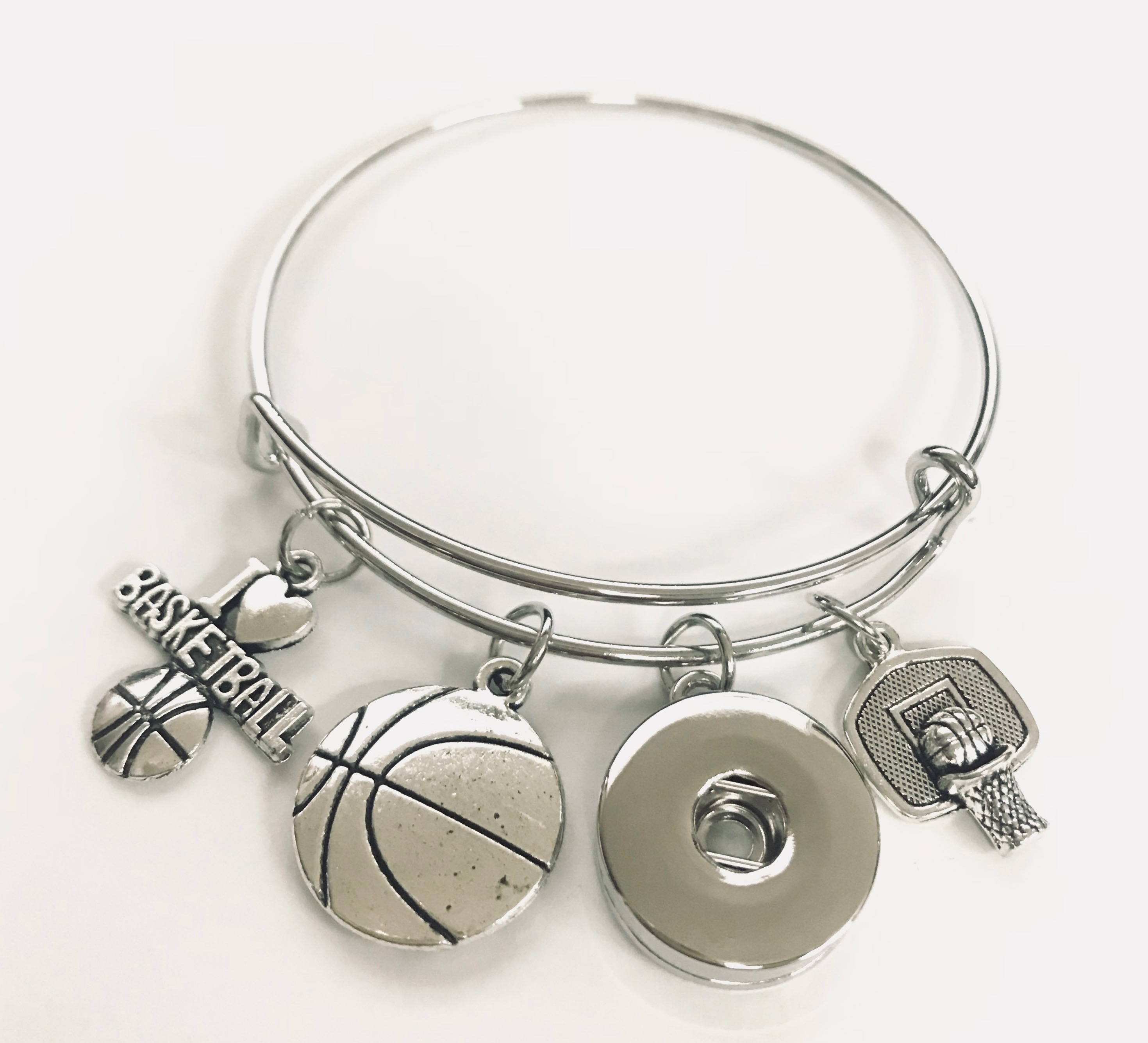 Snap Jewelry Wire Expandable Bangle - Basketball