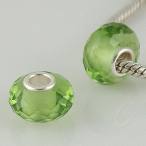 925 Crystal Beads - Peridot - Lime