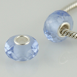 925 Zircon Beads - Light Blue/Lavender